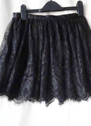 Нарядная кружевная юбка