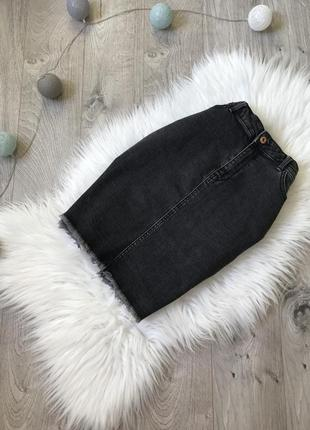 Базова джинсова юбка з тороками