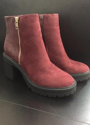 Замшевые ботинки new look