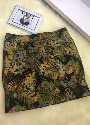 Юбка акцентная  next сзади на молнии золотой пальмовый лист