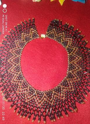 Ожерелье - воротник ручной работы