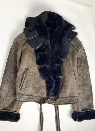Дубленка fendi оригинал кожаная куртка