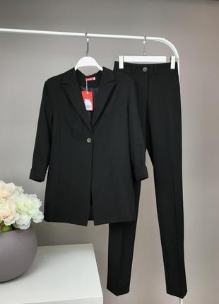 Костюм офисный пиджак и брюки брючный костюм