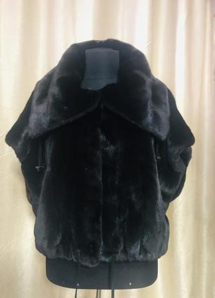 Норковая шуба braschi black nafa