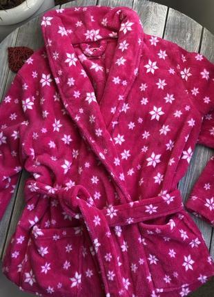 L new look тёплый халат назапах с карманами