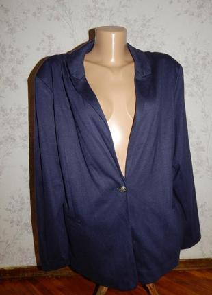 Пиджак, жакет стильный модный р18 большой размер новый