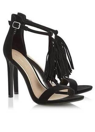 Черные босоножки с бахромой head over heels by dune