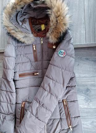 Італійська шкіряна  зимова  куртка