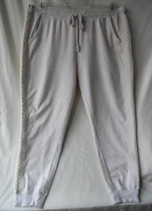 Домашние штанишки с вязаными вставками