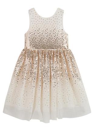 Платье нарядное фатин h&m/ сукня дівчинка святкова пайєтка пишна