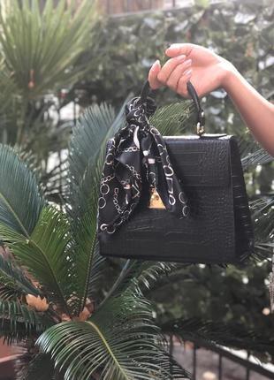 Женская сумка с платочком (натур.кожа, италия)