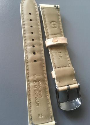 Ремешок ремень для часов кода беж michele 18 см дизайнерский