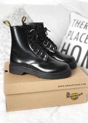 Полностью черные ботинки dr martens black mono /осень/зима/весна😍