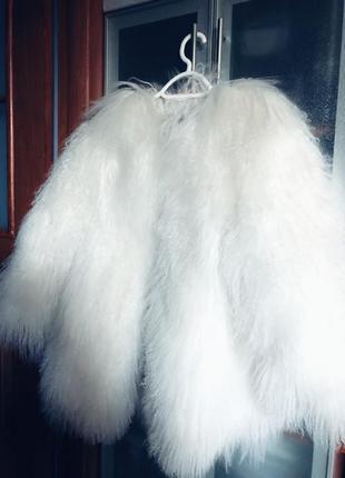 Шуба из натурально меха ламы