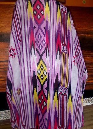 Платок 100х95см бренд pieces accessories этнический стиль