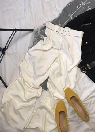 Белые брюки штаны клеш классические білі штани класичні