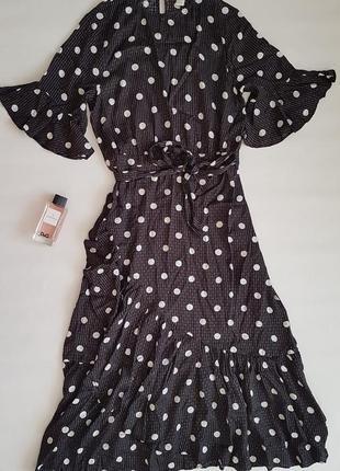 Красивое платье h&m в горошек