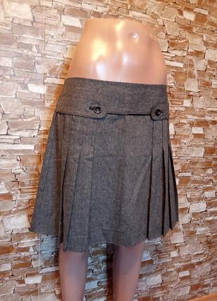 Германия,новая!шикарнейшая,зимняя,теплая,шерстяная юбка,юбочка,в складку,плисеровка