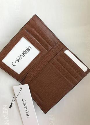 Calvin klein оригинал кошелек для карточек кейс кожаный монетница