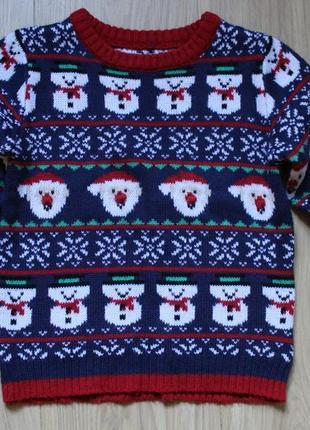 Новогодний свитер mothercare на 4-6 лет