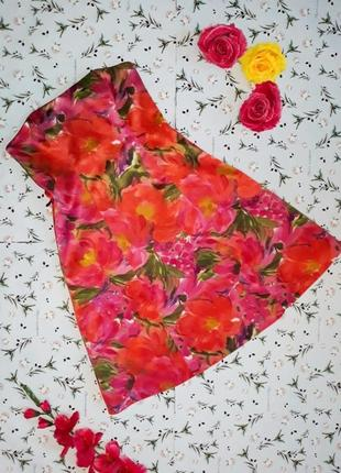 🌿1+1=3 яркое платье бюстье миди в цветах debenhams, размер 46 - 48