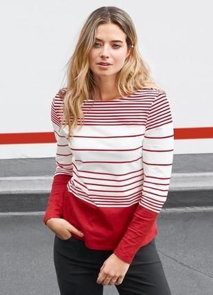 Стильный мягкий пуловер в полоску від tcm tchibo 48-50