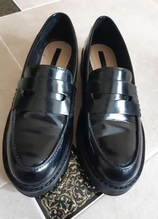 Туфли лоферы ботинки zara