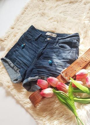 Круті джинсові шорти на високій посадці від hollister