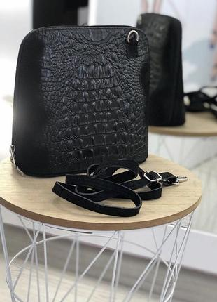 Женская сумочка с тиснением из натуральной замши италия сумка клатч