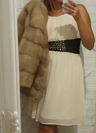 Нежное платье morgan светло-кремовое