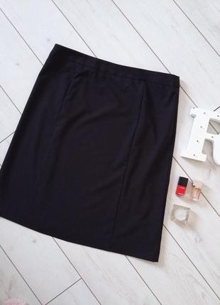 Италия лаконичная базовая юбка миди для делового гардероба