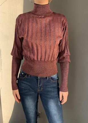 Нарядный свитер с люрексовой нитью красивая спинка