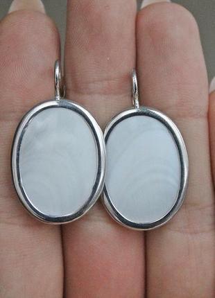 Серебряные серьги жанна перламутр