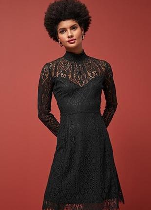 Кружевное цельнокройное платье next новое