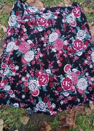 Вельветовая юбка 16ый размер