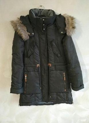 Очень теплая зимняя куртка, парка zara