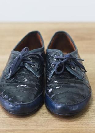 Стильные кожаные женские лаковые туфли, мокасины, балетки guero - 37 размер, турция