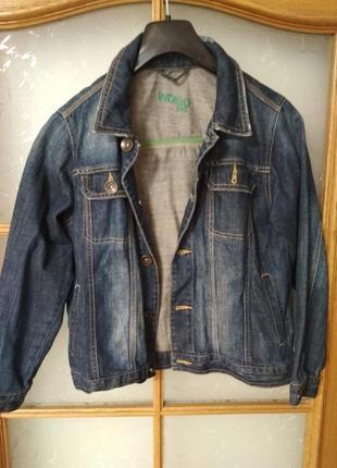 Джинсовая куртка от marks&spencer, на 9-10 лет