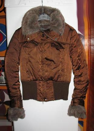 Теплая итальянская куртка шоколадного цвета тм imperial