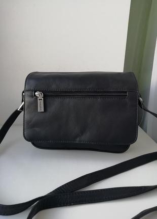 Італійська фірмова шкіряна багатофункціональна сумка кросбоді visconti!!!! оригінал!!!