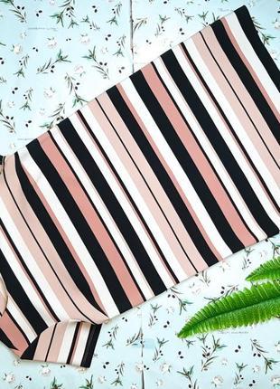 🌿1+1=3 шикарное нарядное прямое платье в полоску tu, размер 46 - 48