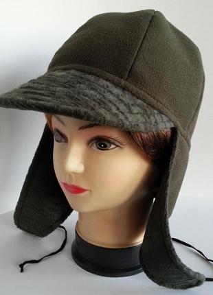 Шапка ушанка кепка жокейка женская.