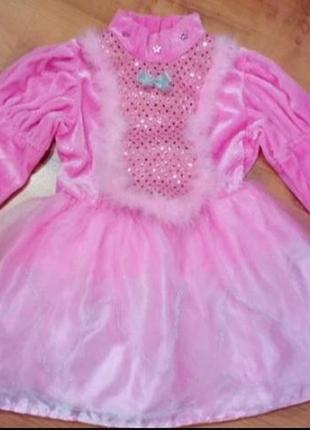 Карнавальное новогоднее платье костюм принцессы, зайчик,мышка, котик на 2-3 годика