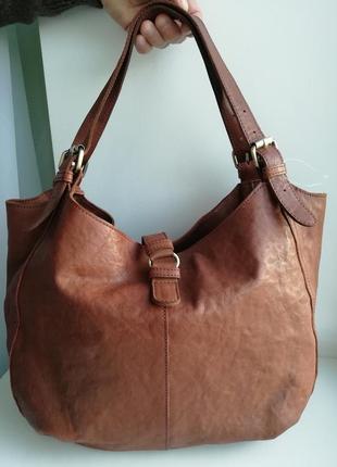 Велика стильна шкіряна сумка white stuff!!! оригінал!!!