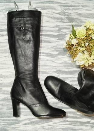 🌿39🌿wallis. кожа. фирменные красивые сапоги на устойчивом каблуке