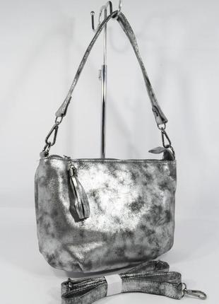 Мягкая сумочка через плечо valensiy 909-5 графит