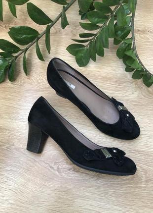 Мегаудобные замшевые туфли 25 см
