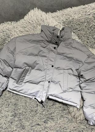 Куртка рефлективная пуховик светоотражающий