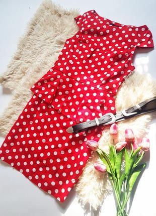 Чудове платтячко горошок з баскою від ax paris
