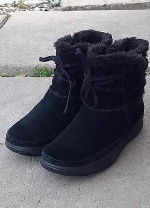 Кожаные полусапоги ботинки skechers tone ups зимние 39 р оригинал